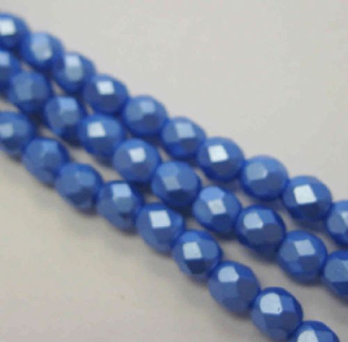 Czech Fire Polished Beads - 4mm - Pastel Turquoise (50)